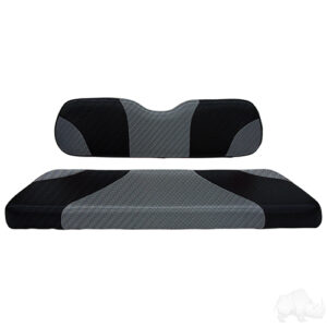 RHOX Rhino Seat Kit, Sport Black Carbon Fiber/Gray Carbon Fiber, Club Car Precedent