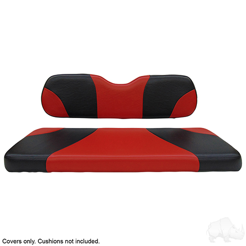 Cover Set, Super Saver Seat Kit, Sport Black/Red, E-Z-Go TXT