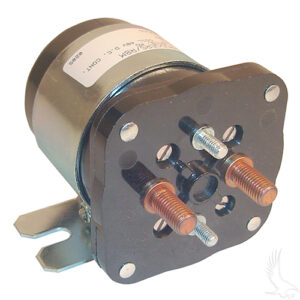 Solenoid, 48V 4 Terminal Silver, E-Z-Go Electric, Club Car Electric 98+, Yamaha Elec G19/G22