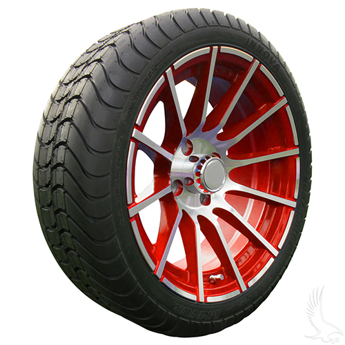 AC600 Assembly -Red w/ Center Cap 15x6 ET-25 & 205/35R15 Innova Driver 4 ply