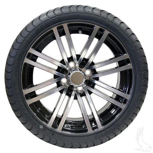 AC601 Assembly - Machined Black w/ Center Cap 15x6 ET-25 & 205/35R15 Innova Driver 4 ply