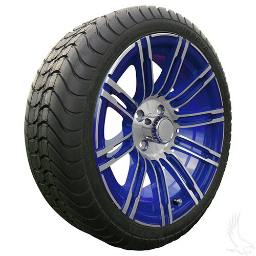 AC602 Assembly - Blue w/ Center Cap 15x6 ET-25 & 205/35R15 Innova Driver 4 ply