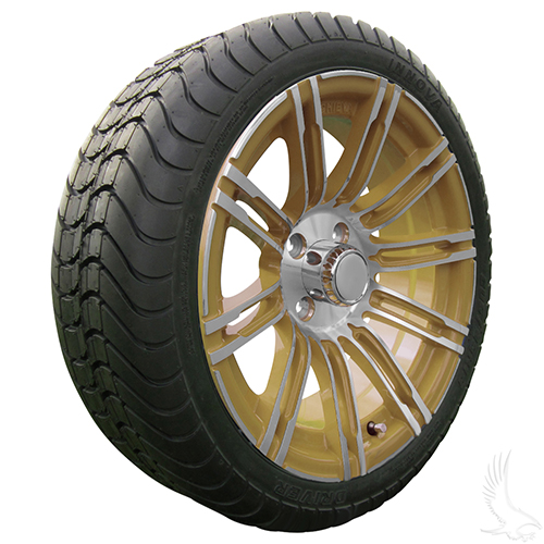 AC602 Assembly - Gold w/ Center Cap 15x6 ET-25 & 205/35R15 Innova Driver 4 ply