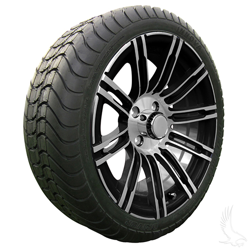 AC602 Assembly - Machined Black w/ Center Cap 15x6 ET-25 & 205/35R15 Innova Driver 4 ply