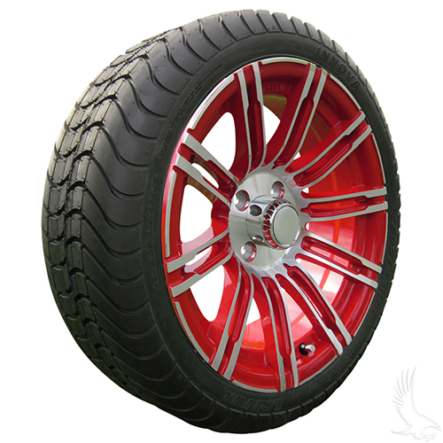 AC602 Assembly - Red w/ Center Cap 15x6 ET-25 & 205/35R15 Innova Driver 4 ply