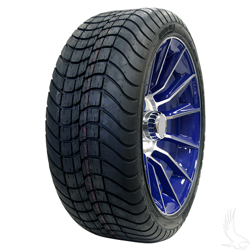 AC603 Assembly - Blue w/ Center Cap 15x6 ET-25 & 205/35R15 Innova Driver 4 ply