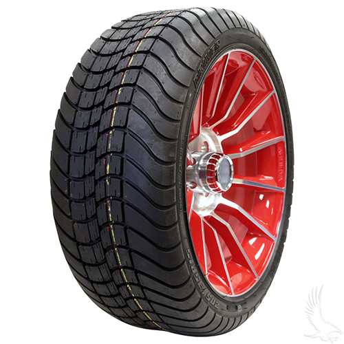 AC603 Assembly - Red w/ Center Cap 15x6 ET-25 & 205/35R15 Innova Driver 4 ply