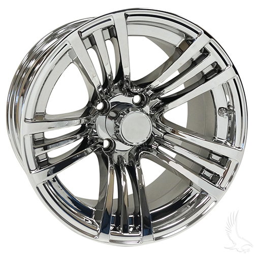 AC606, Chrome w/ Center Cap, 14x7 ET-25