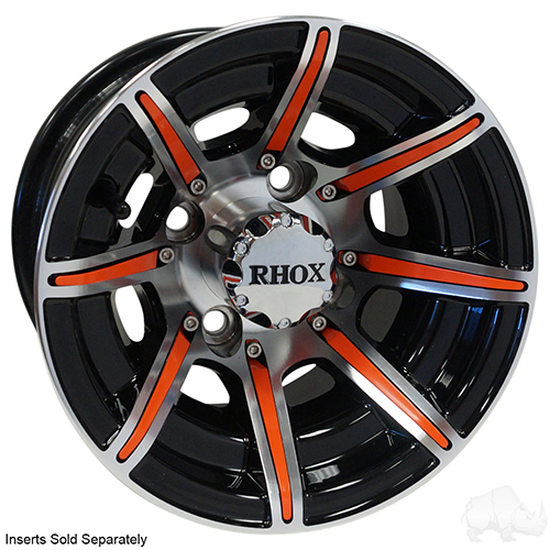 RHOX RX150, 8 Spoke Machined w/Gloss Black w/ Center Cap, 10x7 ET-22