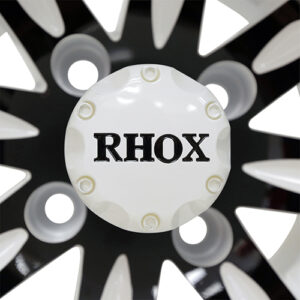 RHOX Vegas, White w/ Black w/ Center Cap, 10x7 ET-25
