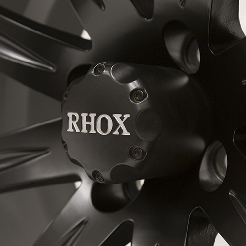 RHOX Vegas, Matte Black w/ Center Cap, 14x7 ET-25