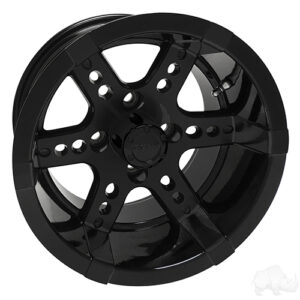 RHOX RX262, Black w/ Center Cap, 14x7 ET-25