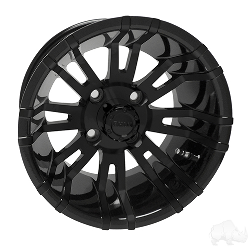 RHOX RX271, Black w/ Center Cap, 12x7 ET-25