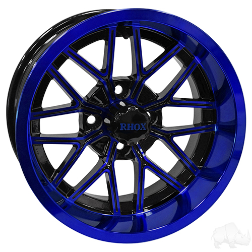 RHOX RX281, Gloss Black with Blue, 14x7 ET-25
