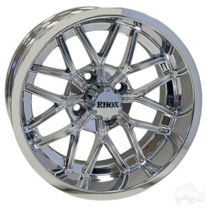 RHOX RX281, Chrome w/ Center Cap, 14x7 ET-25