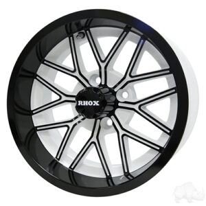 RHOX RX282, Gloss White with Black, 14x6 ET-10