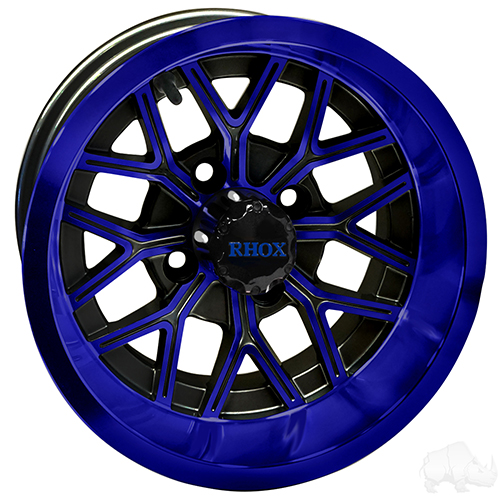 RHOX RX283, Gloss Black with Blue, 12x7 ET-25