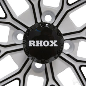 RHOX RX284, White with Gloss Black, 12x6 ET-10