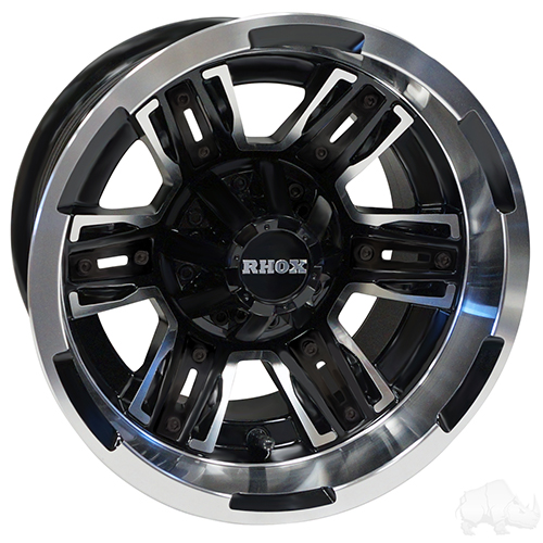 RHOX RX286, Machined Matte Black, 12x7 ET-25