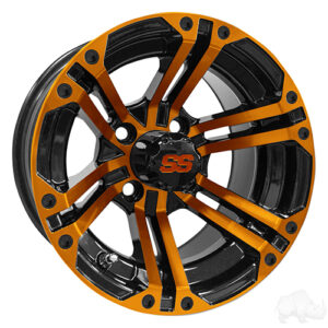 RHOX RX334 Black and Orange w/Center Cap, 12x7 ET-25