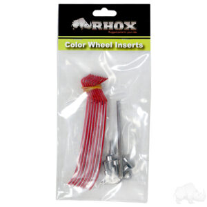 RHOX Color Wheel Insert, Red, Bag of 8 for RX150 Series Wheels